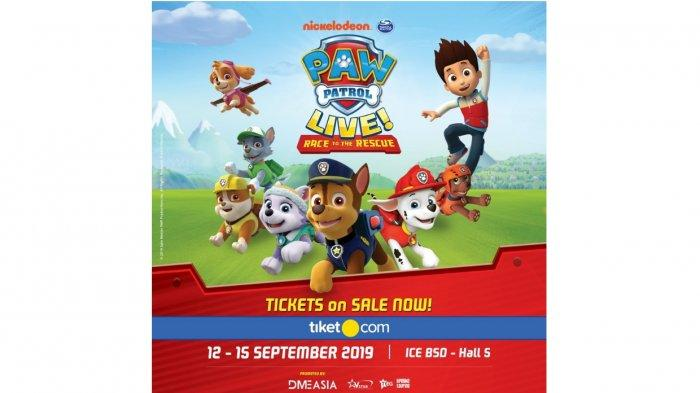 """paw patrol live """"race to the rescue"""" datang ke indonesia"""