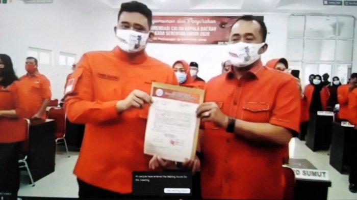 PDIP resmi mengusung Bobby Nasution sebagai calon wali Kota Medan dengan Aulia Rachman sebagai calon wakil wali Kota Medan.
