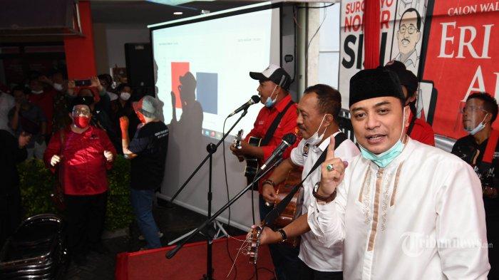 UPDATE Hasil Pilkada Surabaya 2020 Data KPU Jumat 11 Desember Pagi: Eri Cahyadi-Armuji Unggul 57,5%