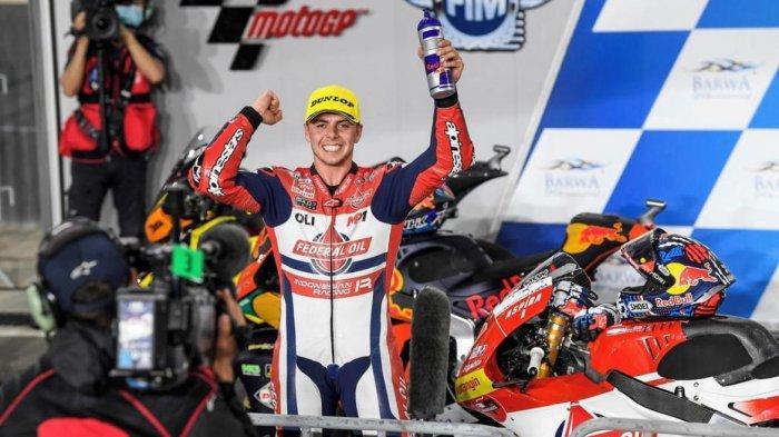 Fabio Di Giannantonio Raih Podium, Jenama Indonesia Berkibar di Seri Pembuka Moto2 Losail Qatar