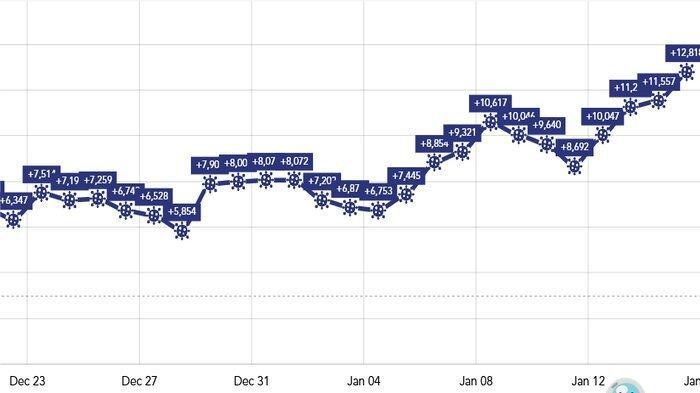 Grafik Kasus Corona di Indonesia: Pecah Rekor 3 Hari Berturut, 15 Januari Tambah 12.818 yang Positif