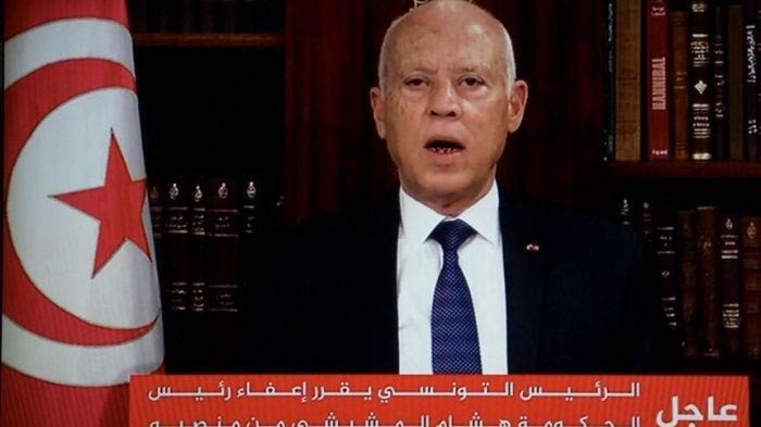 Presiden Tunisia Kais Saied Skors Parlemen dan Pecat Perdana Menteri Hicham Mechichi