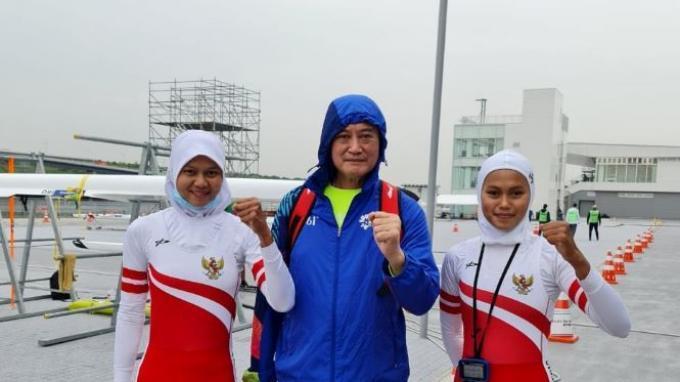 Dua Atlet Dayung Indonesia Mutiara Rahma Putri dan Melani Putri Lolos Olimpiade Tokyo