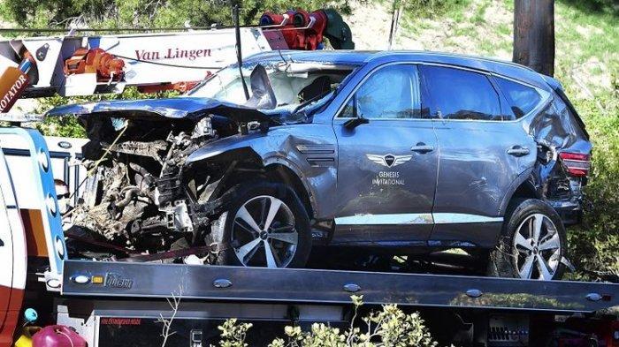 Kronologi Kecelakaan Mobil Tiger Woods, Begini Kondisinya Saat Ditemukan di Belakang Setir