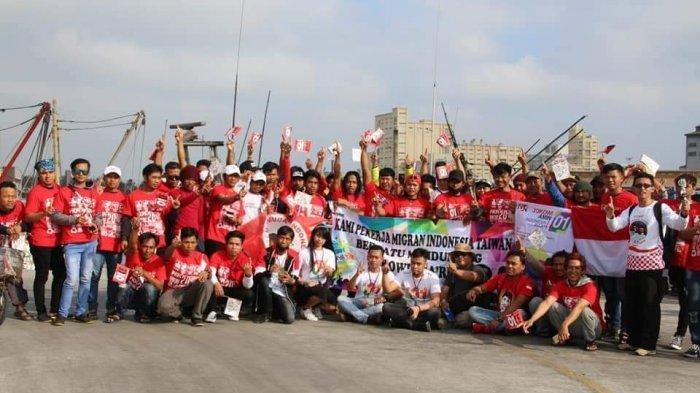 ABK asal Indonesia di Taiwan Deklarasi Menangkan Jokowi-Amin