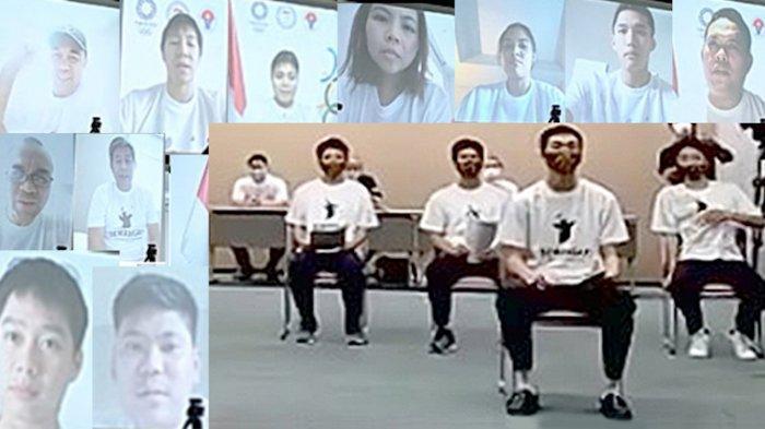 Tim Bulutangkis Olimpiade Indonesia Zoom Dengan 7 Pelajar SMA Kumamoto