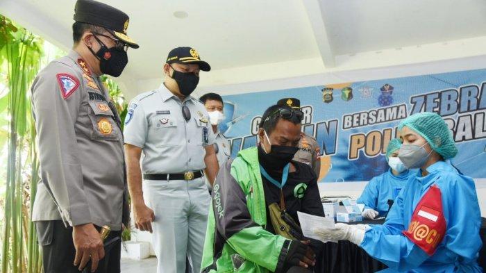 Cek Penerapan PPKM Level 4 dan Vaksinasi Ojol di Bali, Ini Harapan Kakorlantas