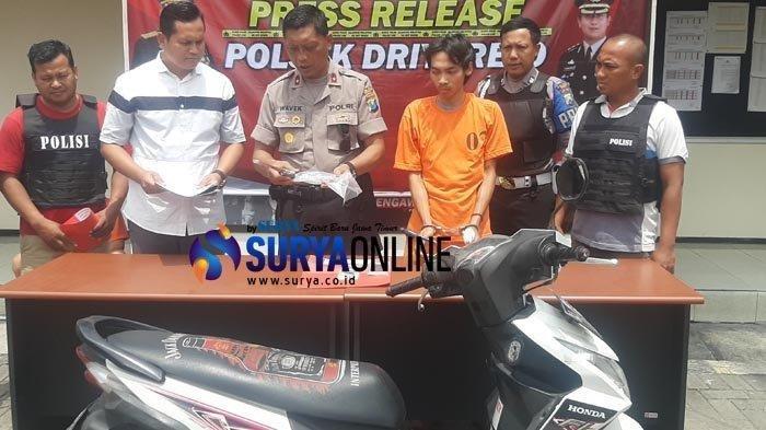 Ternyata Ini Alasan Pelaku Begal Handphone Bersenjata yang Dirungkus Polisi di Gresik Jawa Timur