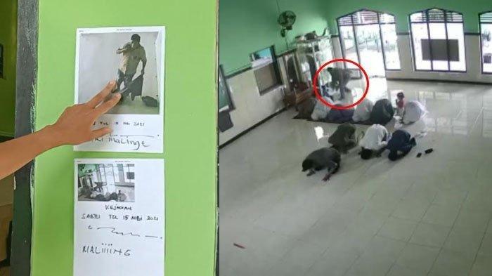 Viral di Medsos, Maling Tas Jemaah Beraksi di Masjid Kabupaten Kediri Terekam CCTV