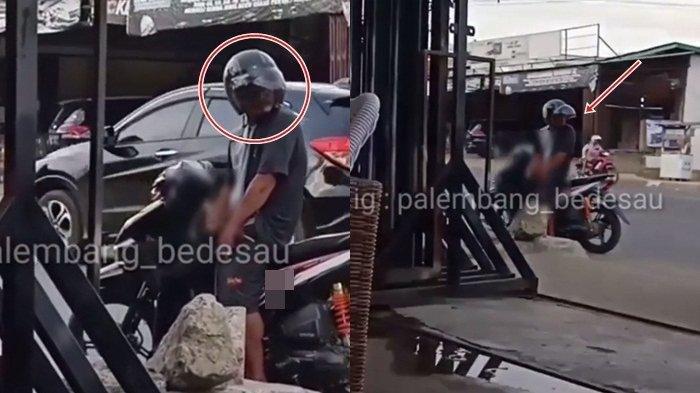 Pelaku Teror Pamer Alat Kelamin di Demang Lebar Daun Palembang, Tetap Santai Meski Direkam Warga!