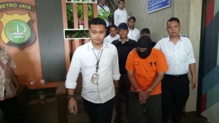 Kepolisian Tangerang menangkap HA, Pelaku pengancam culik dan perkosa artis Syifa Hadju (Kompas.com/Muhammad Isa Bustomi).