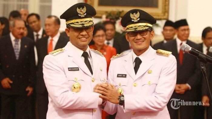 Gerindra Risih Muncul Wacana Duet Anies-Sandi untuk Pilpres 2024