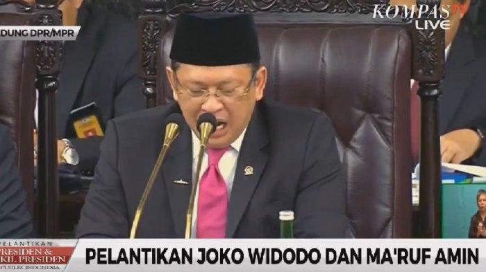 Cerita Mikrofon yang Dipakai Ketua MPR Bambang Soesatyo Saat Pimpin Pelantikan Jokowi-Maruf Amin