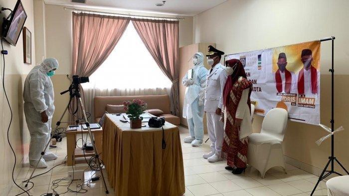 Pelantikan Imam Budi Hartono menjadi Wakil Wali Kota Depok di Rumah Sakit.
