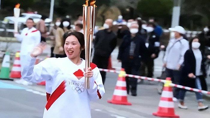 Para Pelari Kecewa Estafet Obor Olimpiade di Osaka Jepang Mendadak Dibatalkan