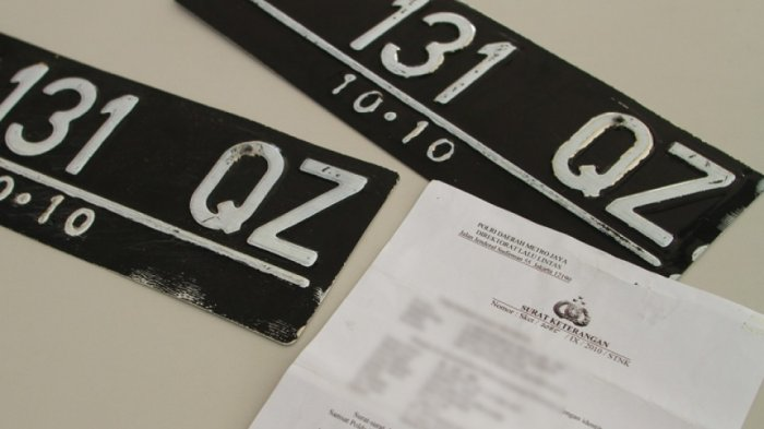 Palsukan Pelat Nomor Kendaraan Bisa Dipidana Penjara sampai 6 Tahun