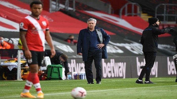Hasil Liga Inggris, Everton Tumbang, Ancelotti Singgung Performa Lawan dan Kartu Merah Digne