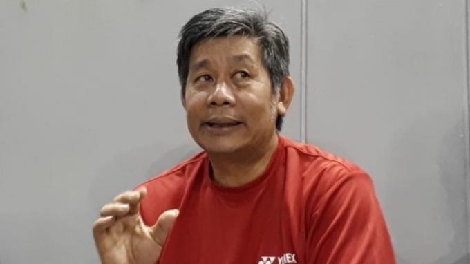 Pelatih ganda putra Indonesia, Herry Iman Pierngadi saat ditemui seusai memimpin latihan di Pelatnas PBSI, Cipayung, Jakarta, Selasa (13/8/2019).
