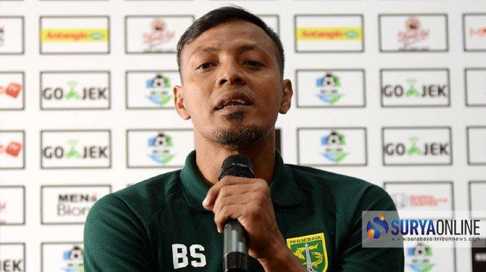Pelatih Persebaya, Bejo Sugiantoro.