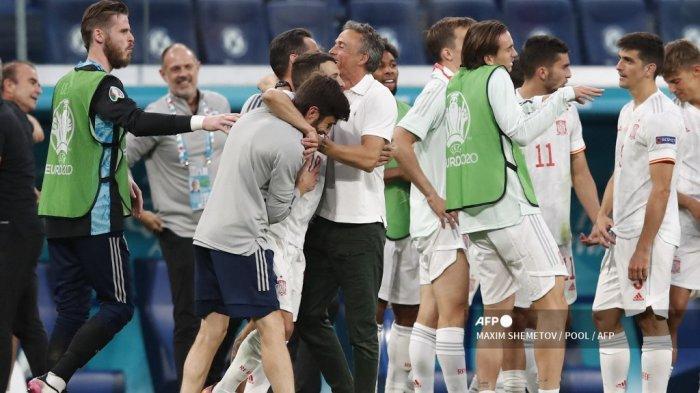 Hasil Euro 2021 - Luis Enrique Komentari Kemenangan 'Beruntung' Spanyol atas Swiss