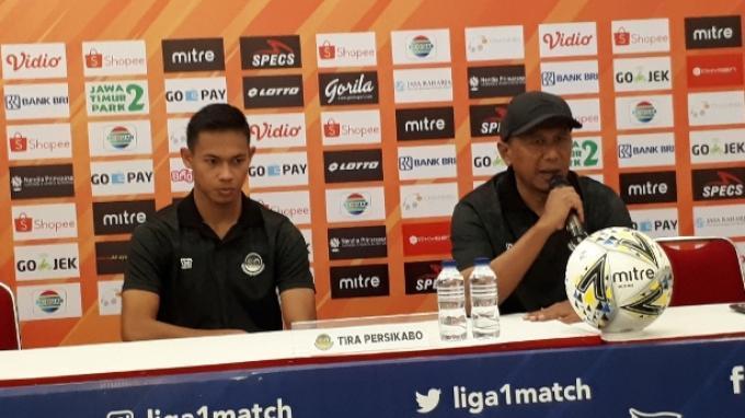 Pelatih PS <a href='https://pontianak.tribunnews.com/tag/tira-persikabo' title='TiraPersikabo'>TiraPersikabo</a> <a href='https://pontianak.tribunnews.com/tag/rahmad-darmawan' title='RahmadDarmawan'>RahmadDarmawan</a> dalam konferensi pers sebelum laga kontra Bhayangkara FC di Stadion Madya, Senayan, Jakarta, Rabu (3/7/2019).