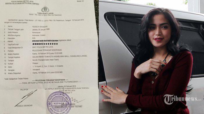 Netizen Menduga Pelecehan Seksual Terjadi Karena Cara Berbusana Jessica Iskandar Tribunnews Com Mobile