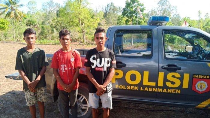 Polsek Laenmanen Amankan Pelaku yang Diduga Melempar Mobil yang Ditumpangi Frater