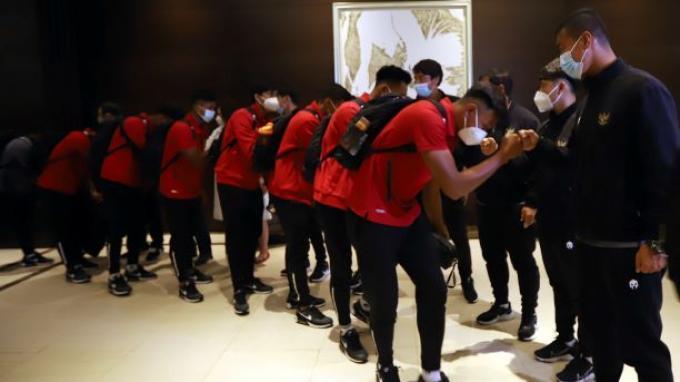 Prosesi Pelepasan Timnas U-19 TC ke Spanyol Berlangsung