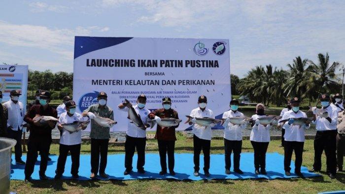 Menteri Trenggono Luncurkan Varietas Baru Ikan Patin Pustina di Jambi