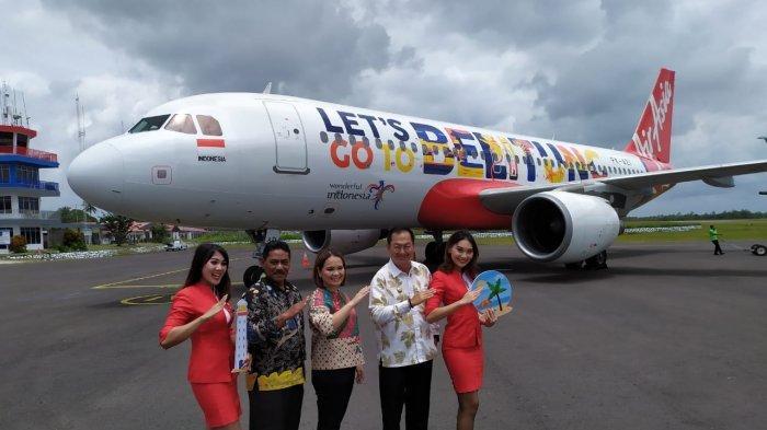 Dukung Pengembangan Wisata Indonesia, AirAsia Luncurkan Livery Belitung di Badan Pesawat