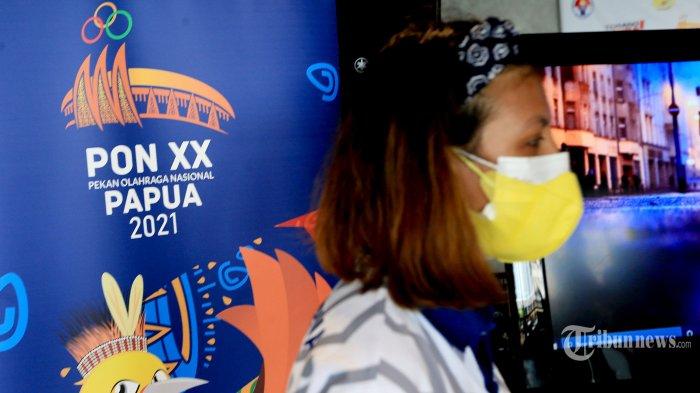 Suasana peluncuran Official Theme Song dan Video Klip PON XX Papua 2021 berjudul 'Torang Bisa', di Jakarta, Sabtu (11/9/2021). Mengangkat tema persatuan bangsa, theme song ini juga dikemas secara baik dalam video klip yang menampilkan keindahan budaya dan lanskap Tanah Mutiara Hitam, Papua. Tribunnews/Irwan Rismawan