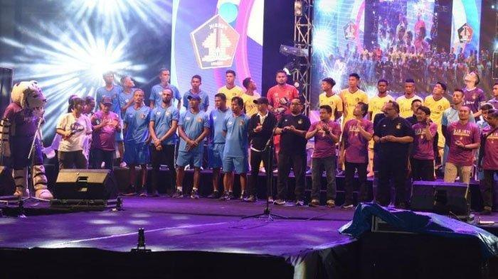 Peluncuran tim Persik Kediri di Stadion Brawijaya pada Minggu (23/2/2020) malam.