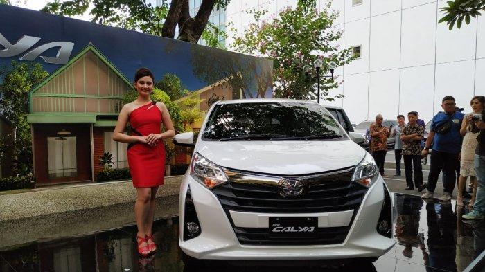 Peluncuran Toyota New Calya di Kembang Goela, Jakarta, Selasa (16/9/2019).