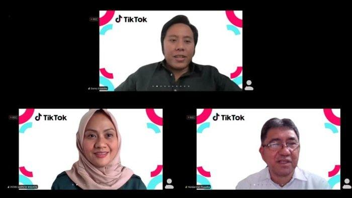 Tangkapan layar Agenda peluncuran virtual 'Toolkit Keamanan Keluarga TikTok', Rabu (10/2/2021).