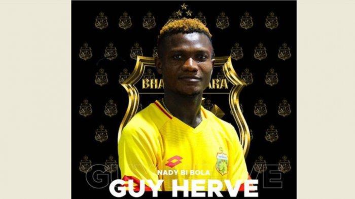 Pemain anyara Bhayangkara FC asal Pantai Gading, Nady Bi Bola Guy Herve.