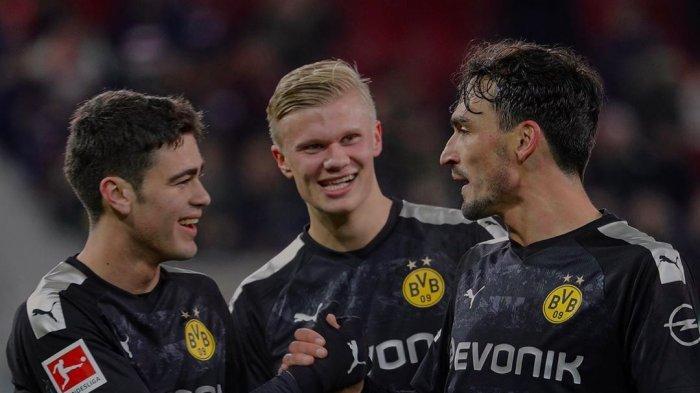 Pemain Borussia Dortmund, Hummels, Haaland dan Gio Reyna