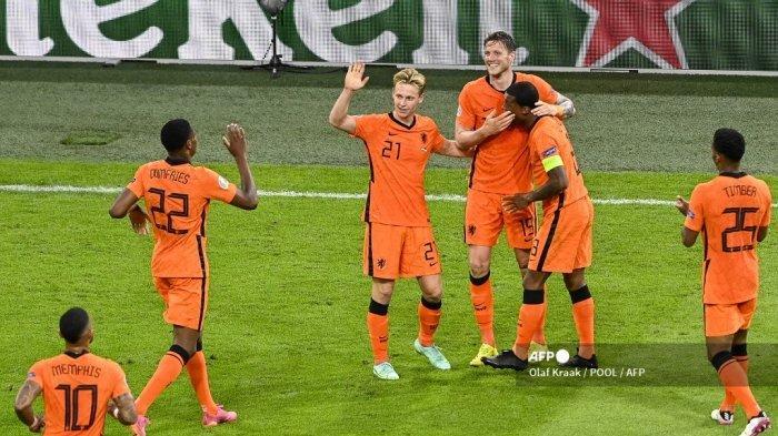 Nonton TV Online Live Streaming Belanda vs Austria di Euro 2020, Siapa Lebih Dulu Lolos ke 16 Besar?