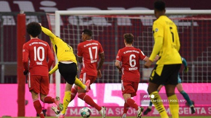 HASIL Bayern Munchen vs Dortmund Babak 1: Ada Gol Kilat, Haaland & Lewandowski Cetak Brace, Skor 2-2