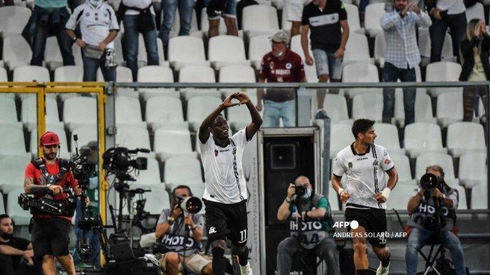 Hasil Spezia vs Juventus Liga Italia, Gol Moise Kean Dibalas Gol Indah Gyasi, Skor 1-1 di Babak I