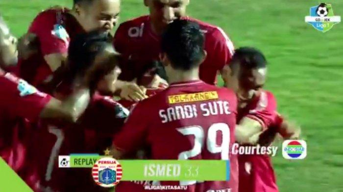 Tendangan Bebas Jarak Jauh Ismed Sofyan Bawa Persija Unggul 1-0 Atas Bhayangkara FC Babak Pertama