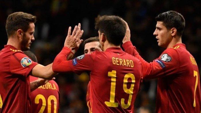 Menang Telak 5-0 atas Rumania, Spanyol Tak Terkalahkan di Kualifikasi Euro 2020