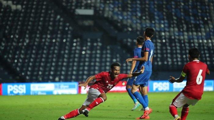 Pemain timnas Indonesia, Ramai Rumakiek saat menghadapi Taiwan di Kualifikasi Piala Asia 2023, Kamis (7/10/2021).
