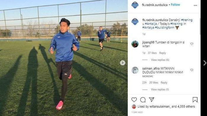 Klub Witan Sulaeman Terseret Dugaan Pengaturan Skor di Liga Serbia