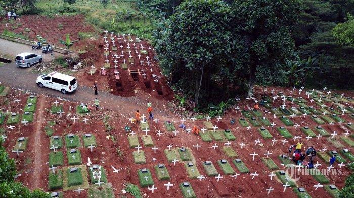 Korban Covid-19 di Jakarta Terus Bertambah, Tempat Pemakaman Pondok Ranggon Hampir Penuh