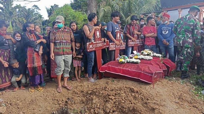 Pemakaman Kakek dan 3  Cucunya Korban Kecelakaan Beruntut di Simalungun Dilaksanakan Secara Militer