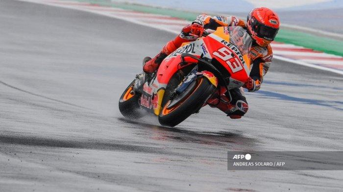 Live Streaming Kualifikasi MotoGP Misano 2021, Marc Marquez Merasa Kompetitif di Trek Basah