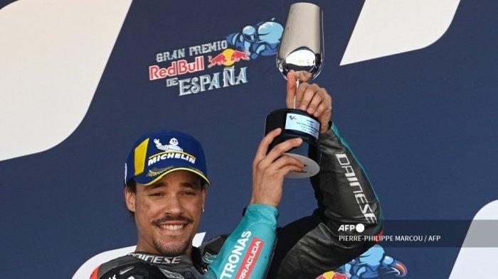 HASIL MotoGP Spanyol 2021: Gagal di 3 Seri Sebelumnya, Morbidelli Nikmati Podium Pertama Musim Ini