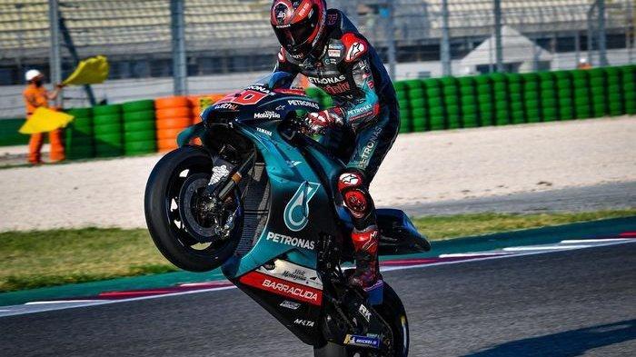 Pembalap Petronas Yamaha, Fabio Quartararo menjadi yang tercepat di tes MotoGP Misano 2019
