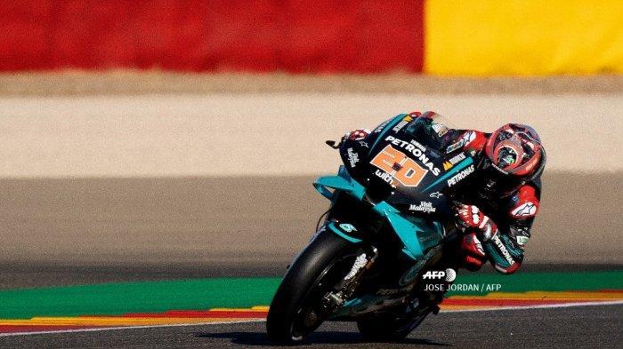 Hasil Kualifkasi MotoGP Aragon 2020 - Quartararo Amankan Pole, Vinales ke-2 dan Cal Crutchlow