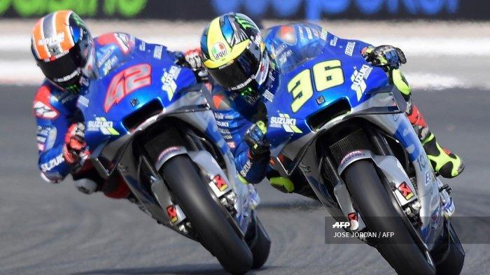HASIL MotoGP Eropa 2020: Joan Mir Juara, Valentino Rossi Menderita, Quartararo Terkapar